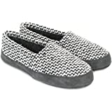 Polar Feet Perfect Mocs for Women in Grey Wool Weave (S (6.5-7.5))