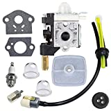 IKADEER Carburetor with Spark Plug Gasket Fuel Maintenance Kit for Echo GT200 GT201i HC150 HC151 PE200 PE201 PPF210 PPF211 SRM210 SRM211 Trimmer