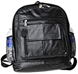 Full-sized Leather Backpack - Black (#1515-0)
