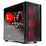 SkyTech [RX580 Version] Blaze VR Ready RGB Gaming Computer Desktop PC - Ryzen 1200 3.1GHz Quad-Core, AMD RX 580 4GB, 8GB DDR4 2400, 1TB HDD, Wi-Fi, Windows 10 Home 64-bit