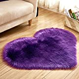 WONNA Heart Shaped Plush Rugs Soft Warm Carpet Easy Clean Doormat for Home Hotel Bedroom Blankets