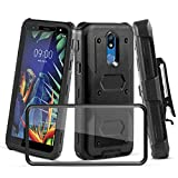 CaseTank for LG K40 Case, LG Solo LTE(L423DL) Case, LG Harmony 3 Case, LG K12 Plus Case/LG X4(2019) Case/LG LMX420 Case W [Built-in Screen Protector] Armor Rotatable Holster Case [Kickstand]