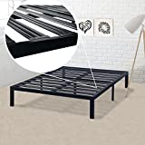 Product review for Best Price Mattress Model E Heavy Duty Steel Slat Platform Bed Frame, Box Spring Replacement Foundation, King, Black