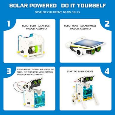 STEM-13-in-1-Solar-Power-Robots-Creation-Toy-Educational-Experiment-DIY-Robotics-Kit-Science-Toy-Solar-Powered-Building-Robotic-Set-Age-8-12-for-Boys-Girls-Kids-Teens-to-Build