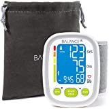 Balance Wrist Blood Pressure Monitor, Ultra Portable High Accuracy Readings with Easy-to-Read LCD, Two User Support and 2-Year Warranty (2017 Update)