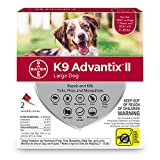 Bayer K9 Advantix II Flea, Tick and Mosquito prevention for Large Dogs 21-55 lbs, 2 doses