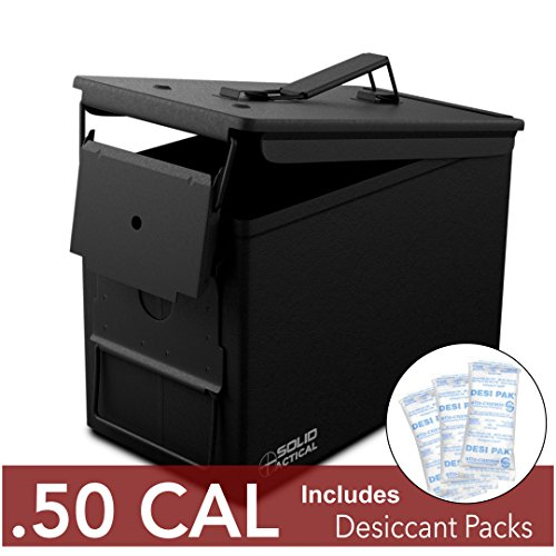 Solid Tactical New 50 Cal Metal Ammo Can...