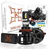 HIKARI Ultra LED Headlight Bulbs Conversion Kit -H11(H8,H9), Prime LED 12000lm 6K Cool White,2 Yr Warranty