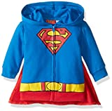 Warner Brothers Baby Boys' Superman Hoodie With Cape, Blue, 6-9 Months