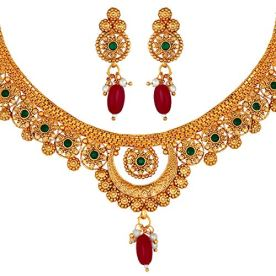 Peora-Traditional-Gold-Plated-StoneStuddedChoker-Necklace-Traditional-Jewellery-Set-for-Women-Girls