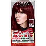 L'Oréal Paris Feria Multi-Faceted Shimmering Permanent Hair Color, R48 Red Velvet (Intense Deep Auburn), 1 kit Hair Dye