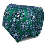 CUFFLINKS INC Superman Green Paisley Tie (Green)