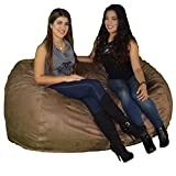 Product review for Large Bean Bag Chair 6 Foot Cozy Beanbag Filled with 48 Lbs of Premium Cozy Foam for Ultimate Comfort