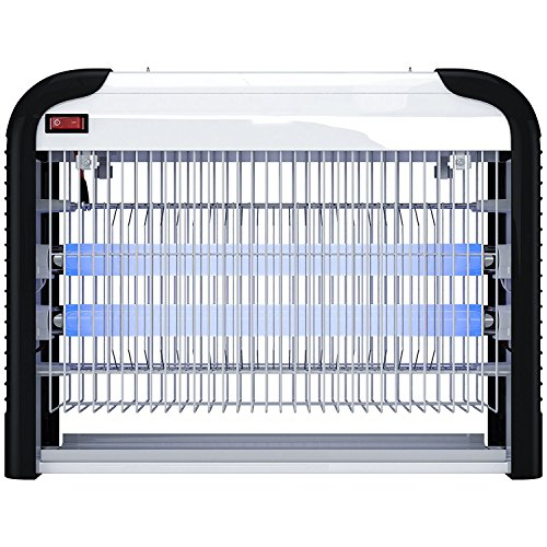 PestZilla Robust UV Electronic Bug Zapper – 20 Watts, Large-area Protection - Up to 6,000 Sq. Feet / For Indoor Use – Kills Flies, Mosquitoes, Insects, Etc. – Enjoy an Insect Free Environment