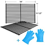 SHINESTAR Grill Parts Charmglow Grill Grates, 19' Cooking Grids Replacement for Turbo, Brinkmann, Grill Pro, Charbroil, 19' x 12-1/2' Each, Set of 2
