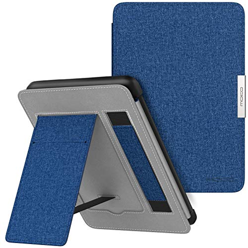 MoKo Case for Kindle Paperwhite, Premium Lightest PU Leather PC Hard Shell Smart Stand Cover with Auto Wake / Sleep for Amazon Kindle Paperwhite (Fits 2012, 2013, 2015, 2016 Version), Indigo