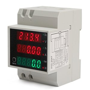 DROK AC 80-300V 0.2-99.9A Voltage Current Meter …