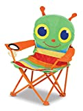 Melissa & Doug Sunny Patch Happy Giddy Child's Outdoor Chair (Easy to Open, Handy Cup Holder, Cleanable Materials, Carrying Bag, 23.7' H x 6.7' W x 6.7' L)