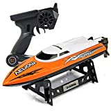 Cheerwing RC Racing Boat for Adults - High Speed Electronic Remote Control Boat for Kids, Orange