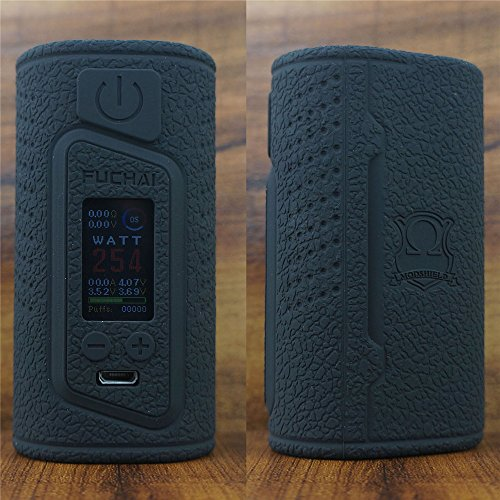 ModShield for Sigelei Fuchai Duo 3 175W & Duo-3 255W TC 2 Cover Version - 2 / 3 Battery Options Silicone Case ByJojo Shield Cover Wrap Skin (Black 3)