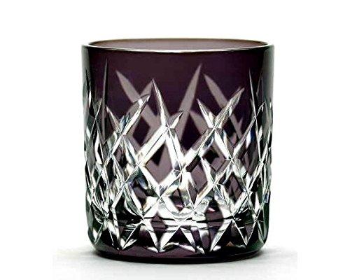 Japanese Edo-Kiriko (Cut Glass) Sake Cup Ju-yarai Pattern