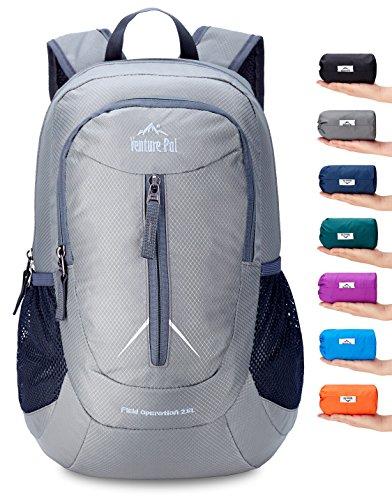 Venture Pal 25L - Durable Packable Lightweight Travel Hiking Backpack Daypack Small Bag for Men Women Kids (Grey)