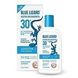 Blue Lizard Australian Sunscreen - Sensitive Sunscreen SPF 30+ Broad Spectrum UVA/UVB Protection - 5 Fl. Oz Bottle