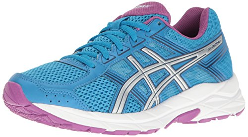 ASICS Women's Gel-Contend 4 Running Shoe, Diva Blue/Silver/Orchid, 8.5 M US