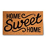 PLUS Haven Pure Coco Coir Doormat with Heavy-Duty PVC Backing - Home Sweet Home - Size: 18-Inches x 30-Inches - Pile Height: 0.6-Inches - Perfect Color/Sizing for Outdoor/Indoor uses.