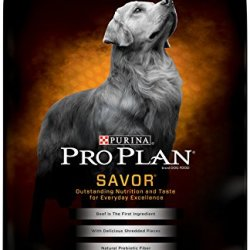 Purina Pro Plan Savor Shredded Blend Beef and Rice Formula Dry Dog Food
