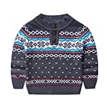 Product review for MOMOLAND Toddler Kids Boys Sweater Snowflake Christmas Gift