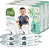 Seventh Generation Size 2 Diapers and Wipes Box - 108 Diapers with Animal Prints and 256 Wipes for Sensitive Skin (Packaging May Vary)