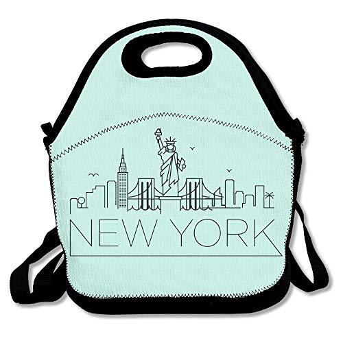 New York Design Black NYC LogoLunch Bag For Men Lunch Bag Lunch Box Food Bag Simple