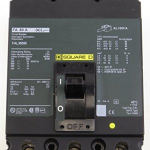 FAL36080 SQD 3P 80A 600V CIRCUIT BREAKER