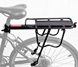 PEXIQAKA Bike Carrier Rack 110 LB Capacity Solid Bearings Universal Adjustable Bicycle Luggage Cargo Rack