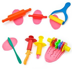 KIDDY-DOUGH-Tool-Kit-for-Kids-Party-Pack-w-Animal-Shapes-Includes-24-Colorful-Cutters-Molds-Rollers-Play-Accessories-for-Air-Dry-Clay-Dough