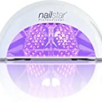 NailStar Professional 12W LED Nail Dryer Nail Lamp for Gel Polish with 30sec, 60sec, 90sec and 30min Timers (White)