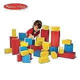 Melissa & Doug Deluxe Jumbo Cardboard Blocks (Developmental Toy, Extra-Thick Cardboard Construction, 40 Pieces, 12.5″ H × 7″ W × 19″ L)