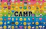 6 Summer Camp Stationery Postcards for Kids,3 Each Design (Multi Emoji)