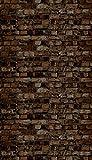 Ella Bella Photography Backdrop Paper, Aged Brown Brick, 48' x 12', 1 Roll