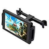 FYOUNG Car Headrest Mount for Nintendo Switch,Adjustable Car Holder for Nintendo Switch/iPhone/iPad and Other Devices (4'-11')