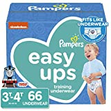 Pampers Easy Ups Pull On Disposable Potty Training Underwear for Boys, Size 5 (3T-4T), 66 Count, Super Pack (Packaging May Vary)