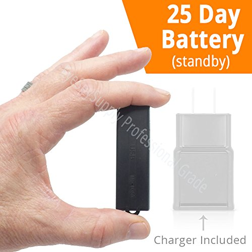 Small Mini Voice Activated Audio Recorder Super Long 288 Hour Storage Capacity (8GB) | 25 Day Stby Battery Date & Time Stamp | Easy to Use | Crystal Clear Digital Recording