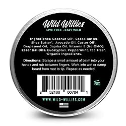 Beard Balm Conditioner For Men -Wild Willie's Beard Butter-Amazing Beard Balm with 13 Natural Locally Sourced Ingredients to Condition and Treat Your Beard or Mustache At the Same Time. Cool Mint 2oz  Image 1