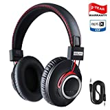 Over Ear Bluetooth Headphones{2019 Newest version} Wireless Headset - High End CSR8645 Chip Apt-X Lossless Hi-Fi Stereo, Handmade Style Extra Comfortable and Lightweight, Deep Bass Headset with Mic