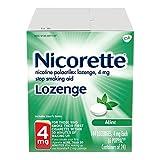 Nicorette Nicotine Lozenge to Stop Smoking, 4mg, Mint, 144 Count