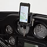 Ciro 50217 Black Fairing Mount Smartphone/GPS Holder with Charger for 2014-2016 Harley-Davidson FLHT/FLHX Touring Models