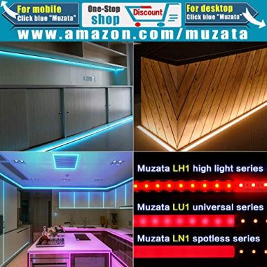Muzata-6-Pack-33ft-9x17mm-U-Shape-LED-Aluminum-Channel-System-with-Cover-End-Caps-and-Mounting-Clips-Aluminum-Profile-for-LED-Strip-Light-Installations-Diffuser-U1SW-WW-1M-LU1