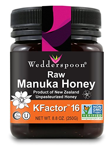 Wedderspoon Raw Premium Manuka Honey KFactor 16+, 8.8 Ounce