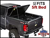 Gator Evo Hard Folding (fits) 2016-2019 Toyota Tacoma 5 FT Bed Aluminum Truck Bed Tonneau Cover Made in USA GC45014